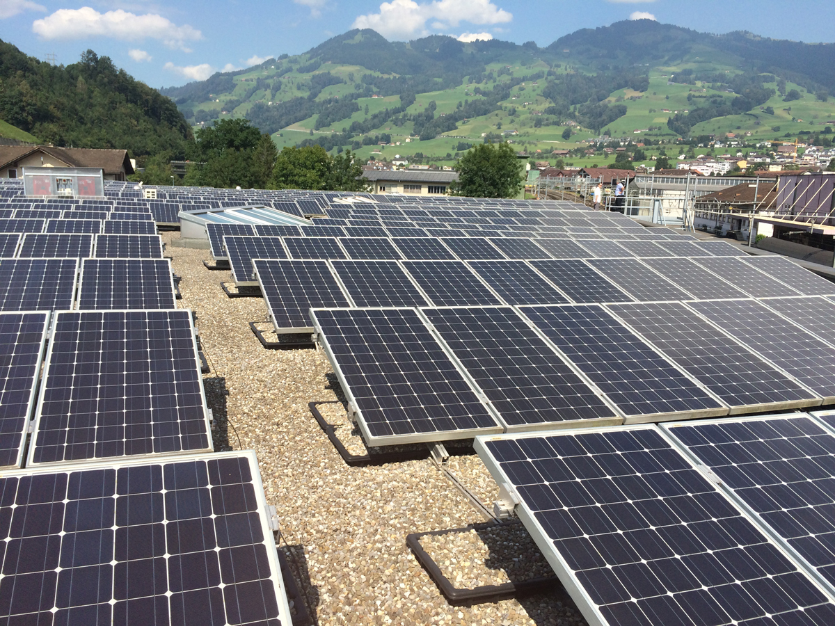 Lighting. Solar In Sewen, Switzerland. This Facility Generates Enough Solar  Energy To Sell Back To